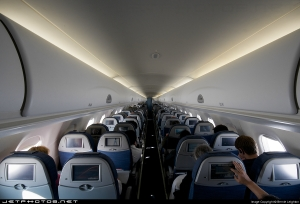 Interior de um avião da Azul-Foto:Jephotos.net
