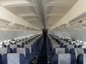 Cabine de um Boeing 737-300