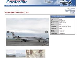 Anúncio do Legacy 600, foto:Reprodução