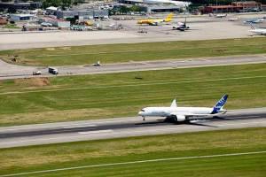 Voo inaugural do A 350-Divulgação Airbus