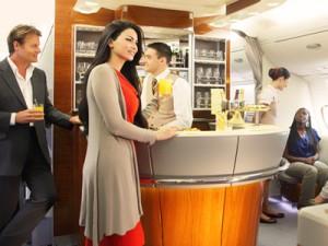 Lounge  A 380 da Emirates, foto: Emirates