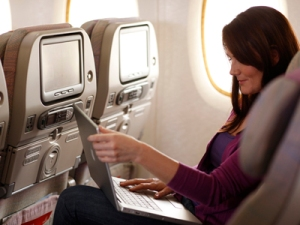 Conectividade no A 380, foto Emirates