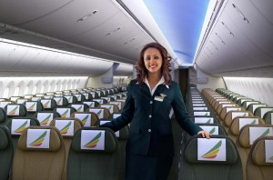 Cabine de passageiros do 787 Dreamliner, foto: Site Ethiopian
