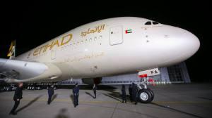 Vista do primeiro jato Airbus A380, o superjumbo: analistas da indústria dizem que a segunda década do jato traz maiores incerteza sobre demanda do que a primeira-foto REUTERS