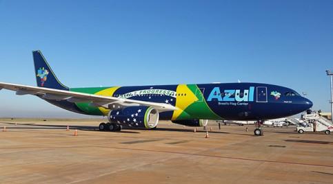 Decolagem: Azul é dona de 15,87% do mercado de voos internacionais, com uma taxa de ocupação de 89,70%