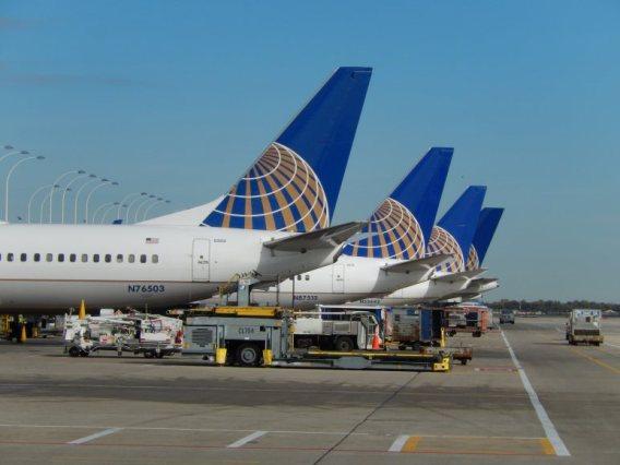 Aviões da United Airlines: detalhes sobre o problema nos computadores não foram imediatamente divulgados, Foto: Ricky Shine/CNN
